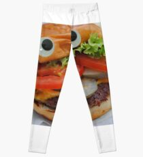 Googly Eye Burger Boy Leggings