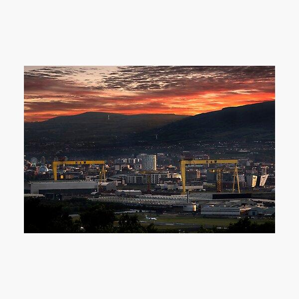Belfast City Sunset Photographic Print