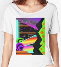 Tutti Frutti Disco Chaos neon abstract weird vibrant  Women's Relaxed Fit T-Shirt