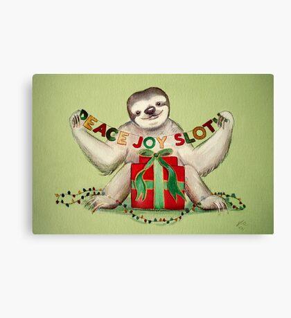 Christmas Sloth Canvas Print