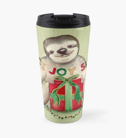 Christmas Sloth Travel Mug