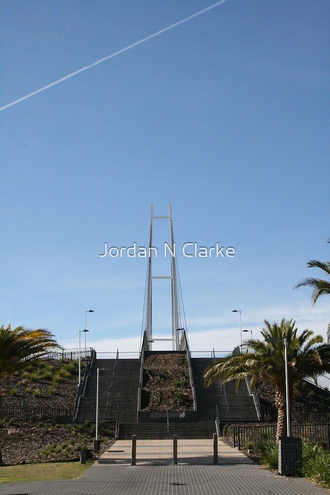 Albury Suspension Bridge by Jordan N Clarke