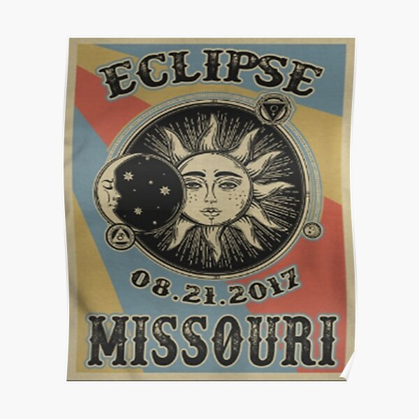 Vintage Solar Eclipse Missouri 2017 t-shirt Poster