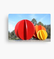 Coloured Balls Canvas Print