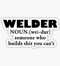 Welder- Noun black Sticker
