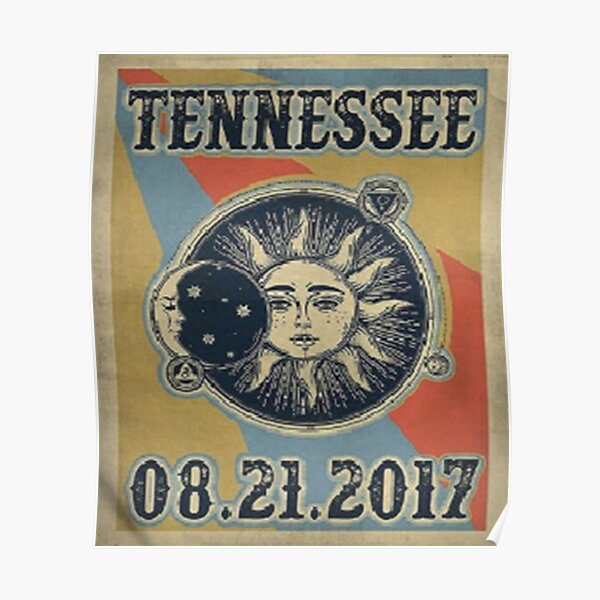 Vintage Solar Eclipse Tennessee 2017 t-shirt Poster
