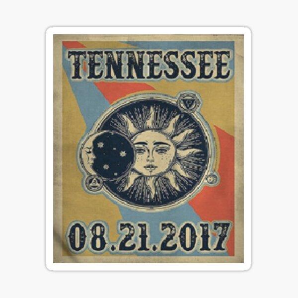 Vintage Solar Eclipse Tennessee 2017 t-shirt Sticker