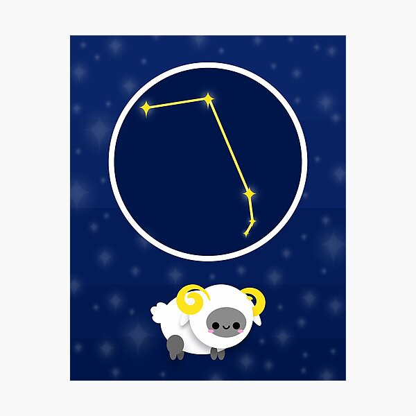 Zodiac constellation, ARIES Photographic Print