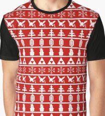 Holiday of Time - Red Graphic T-Shirt