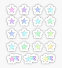 Pastel Rainbow Shooting Stars Planner Set Sticker
