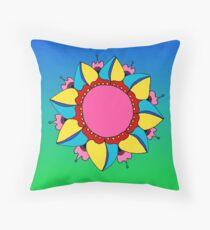 Colorburst Mandala Throw Pillow