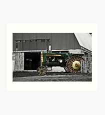 Old Amish Tractor Art Print