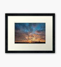 Derry Sunset Framed Print