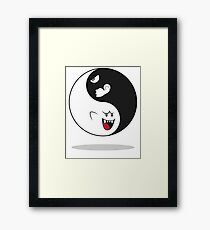 MARIO. Ghost Boo and Bullet Bill Framed Print