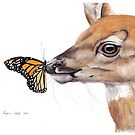 Deer & Butterfly by Meaghan Roberts