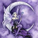 Purple Moon Gothic Anime Fairy by Meredith Dillman
