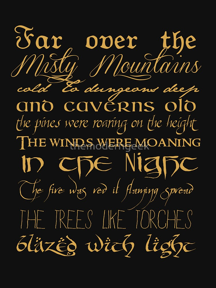 Misty Mountains Thorin's Song | Unisex T-Shirt