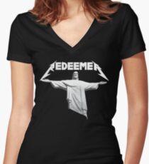Redeemer - Jesus Rocks (original art shirt) Women's Fitted V-Neck T-Shirt