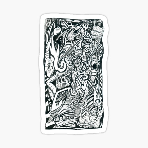 Anxiety Attack by Brian Benson Sticker