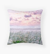 Sea Grass Sunrise Throw Pillow