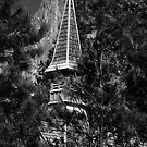 Yosemite Chapel & Half Dome by Benjamin Padgett
