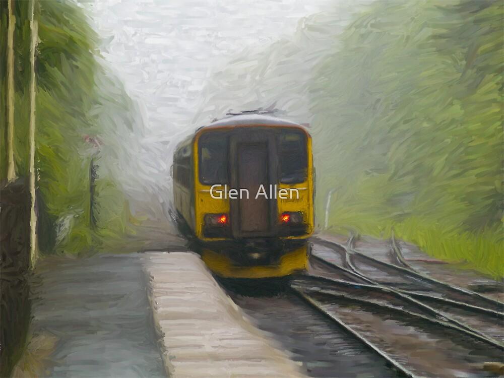 Passenger Train Leaving Hebden Bridge by Glen Allen