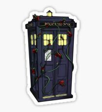 Tardis in Roses Sticker