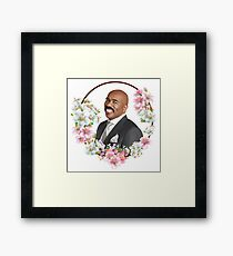 Steve Harvey - Blue Flower Frame Framed Print