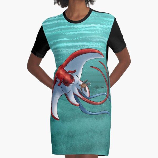 Skate - Manta Ray Dice  Graphic T-Shirt Dress