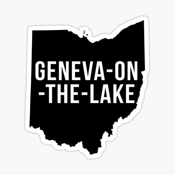 Geneva-On-The-Lake, Ohio Silhouette Sticker