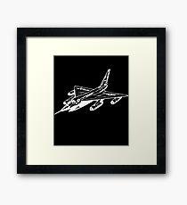 Aeroplane Airforce Airplane Bomber Hustler Jet Military Framed Print