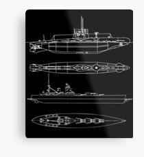 Battle Ship Metal Print