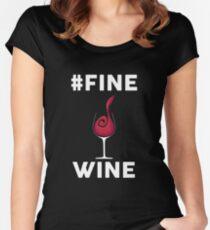 #FINE WINE Women's Fitted Scoop T-Shirt