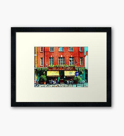 London Eatery Framed Print