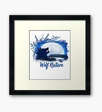 Wolf Nature Image Framed Print
