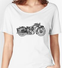 Old Vintage Antique Motorbike Drawing #2 Women's Relaxed Fit T-Shirt