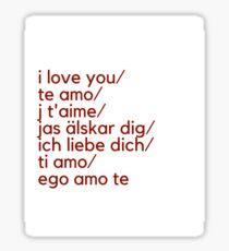 Ways to Say I Love You Print Sticker