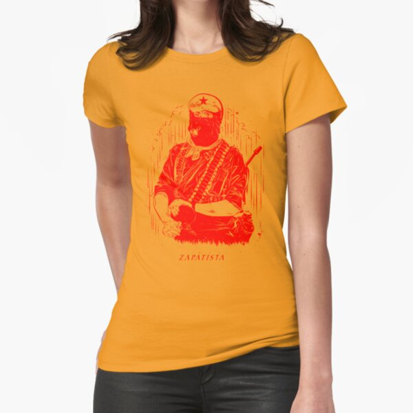 red zapatista Fitted T-Shirt