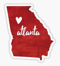 Atlanta, GA - red Sticker