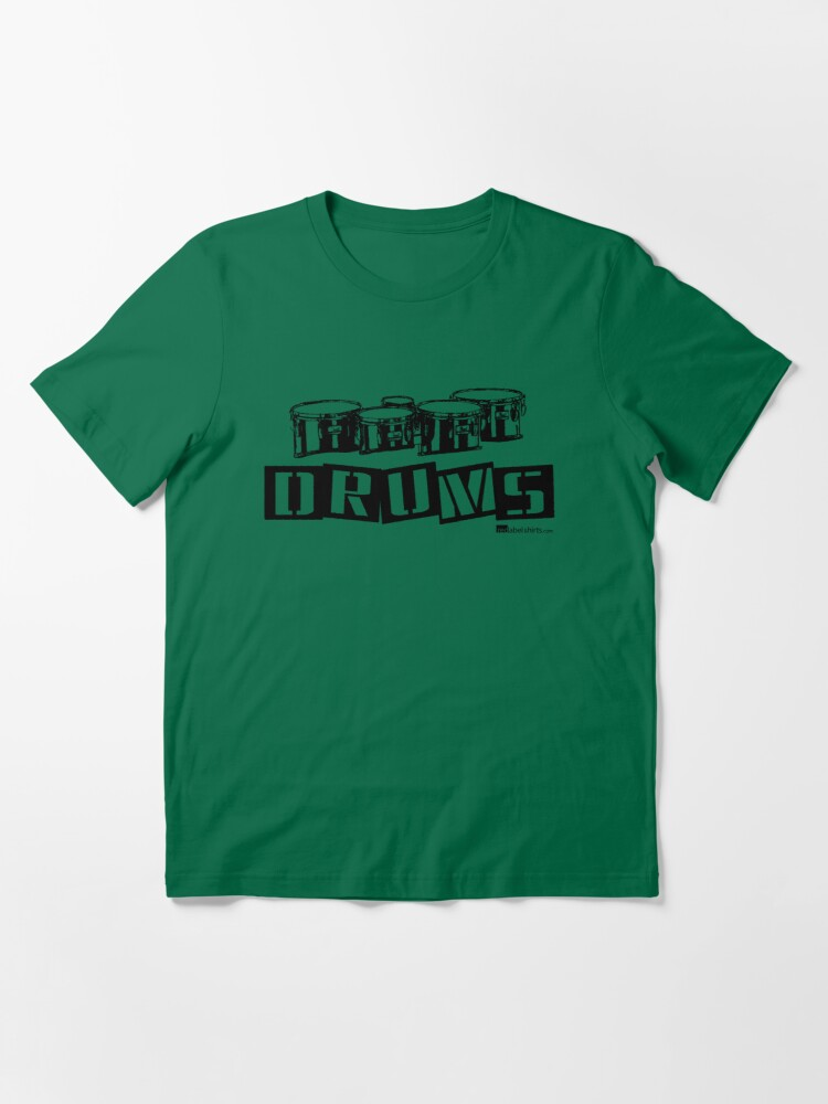 Alternate view of Label Me A Tenor Drum (Black Lettering) Essential T-Shirt