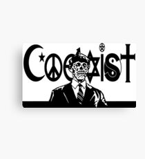THEY LIVE! Coexist Mash-Up (blk) Canvas Print