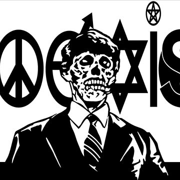 THEY LIVE! Coexist Mash-Up (blk) by BarbwireCult