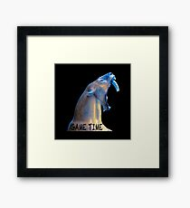 Hear Me Roar - Game Time Framed Print