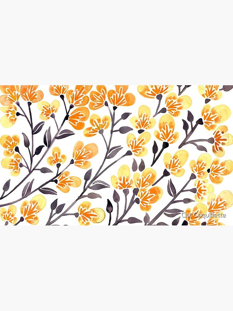 Kirschblüten - gelbe Palette von catcoq