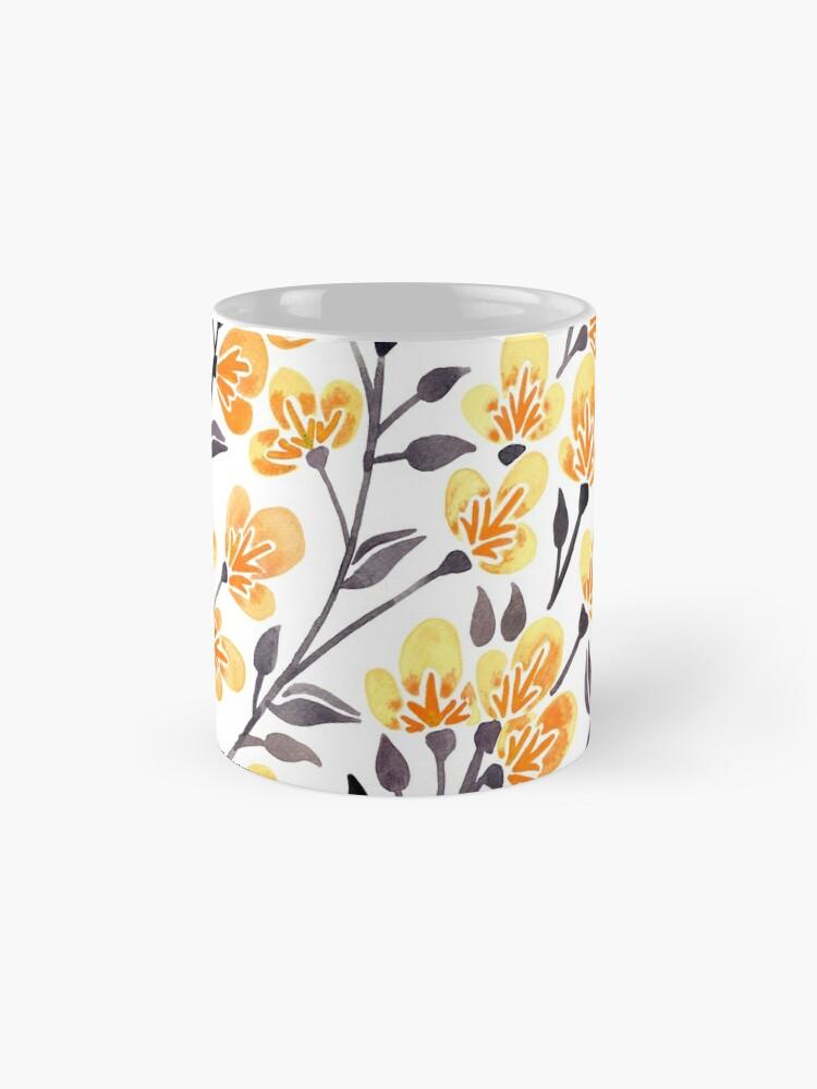 Alternative Ansicht von Kirschblüten - gelbe Palette Tassen