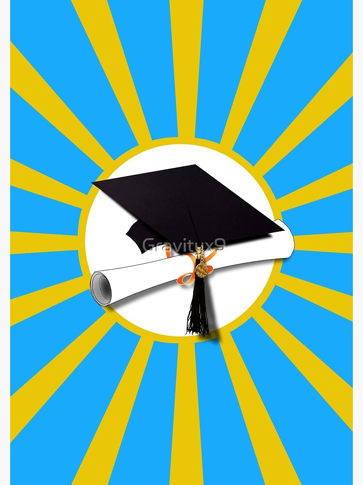 Light Blue and Gold School Colors Graduation  by Gravityx9