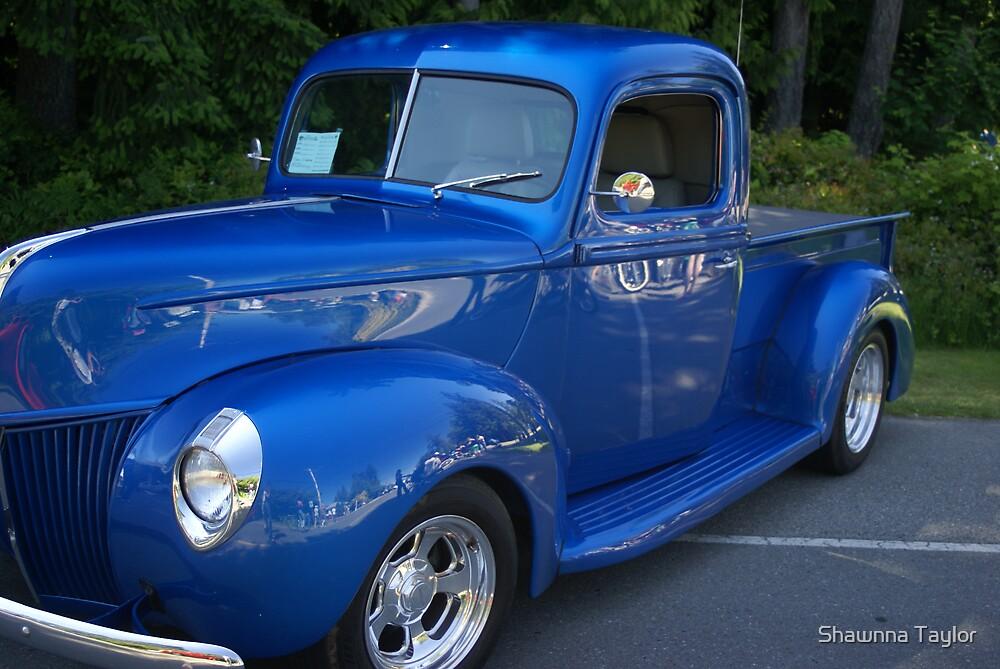 Classic Blue Truck by Shawnna Taylor