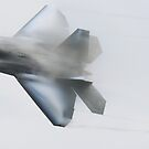 F-22 Raptor, high speed turn by Paul Lenharr II