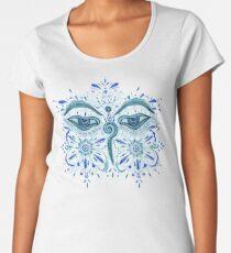 The Eyes of Buddha Women's Premium T-Shirt