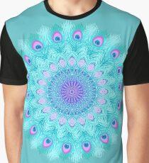 Peacock feathers mandala Graphic T-Shirt